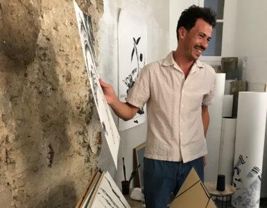 Abdelkader Benchamma, Studio Visit with ADIAF, Montpellier