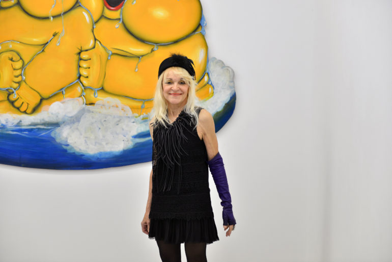 Suzanne Tarasieve dans sa galerie, Paris © Picon /Say Who
