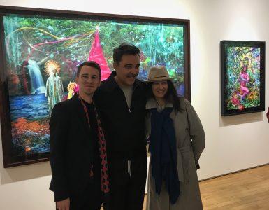 """Marianne avec David LaChapelle et Victor de Bonnecaze, Exposition """"Letter to the World"""" Galerie TEMPLON"""