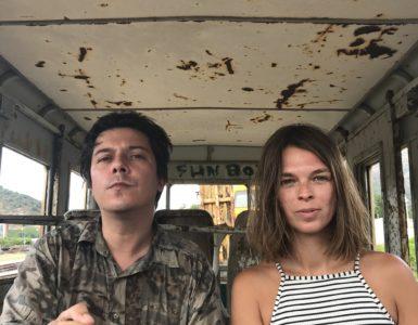 Yvannoé Kruger Directeur artistique de POUSH et Laura Garcia Karras artiste résidente